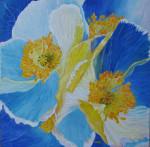 Coeur jaune sur pétales bleues... vent-de-pétales-150x147